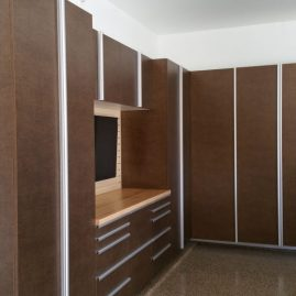 Garage Cabinets With Extruded Handles in Indianapolis
