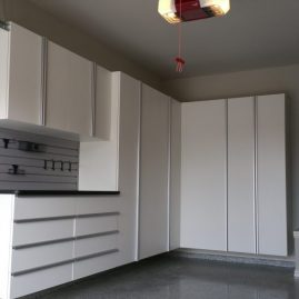Fishers White Garage Cabinets